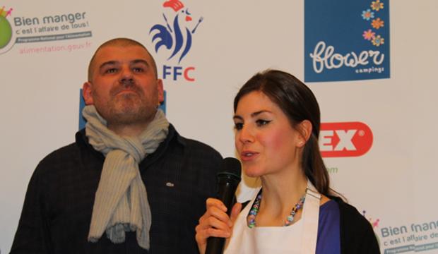 Christian Etchebest avec Charlène Bray, championnat de France de cuisine amateur 2013