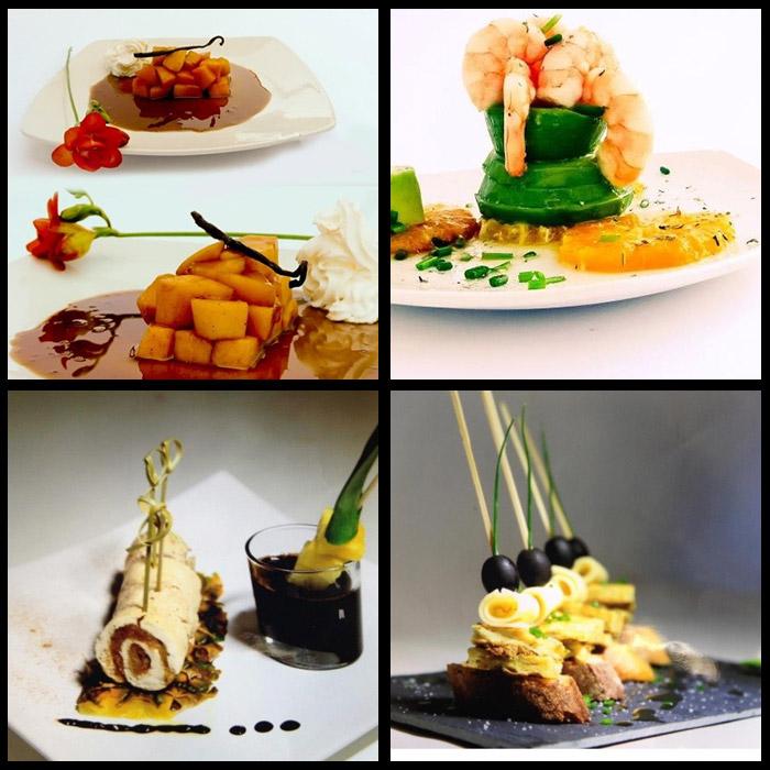 Réalisations culinaires du chefRaudel La Rosa