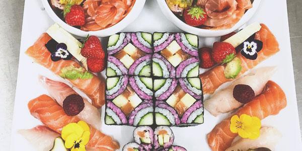 Plateau de sushis du chef à domicile sur Paris Éric Ticana