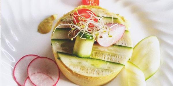 Plat végétarien du chef à domicile Corentin Crutzen, spécialiste de cuisine végétale