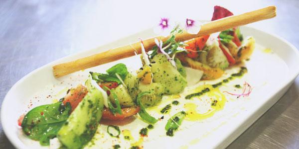 salade au pistou du chef à domicile Pascal Orazzini