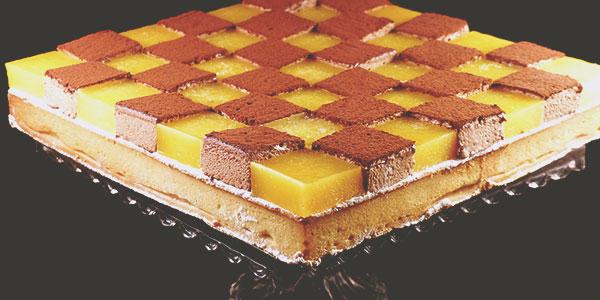 Tarte mosaïque mangue chocolat de la chef à domicile sur Tours