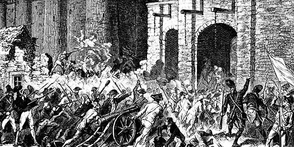 Illustration de la prise de la Bastille du 14 Juillet 1789