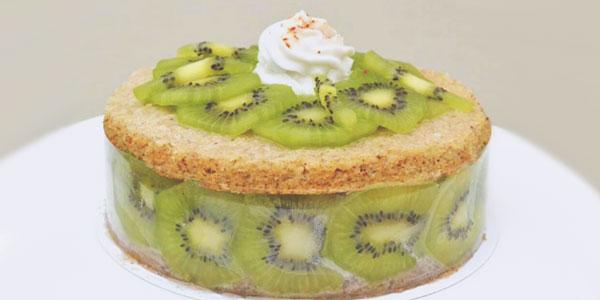 Gâteau kiwi vegan du chef à domicile sur Paris Yann Louvel