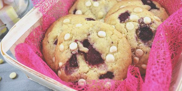 Cookies framboise chocolat blanc de la chef à domicile sur Tours, Julie Alves