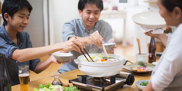 Un repas japonais se partage