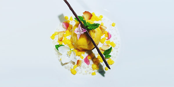 Sorbet mangue, tapioca, coco de la chef à domicile sur Paris Anto Cocagne