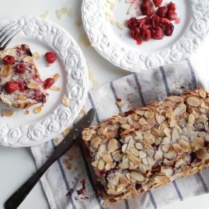 Cake amande framboise vegan